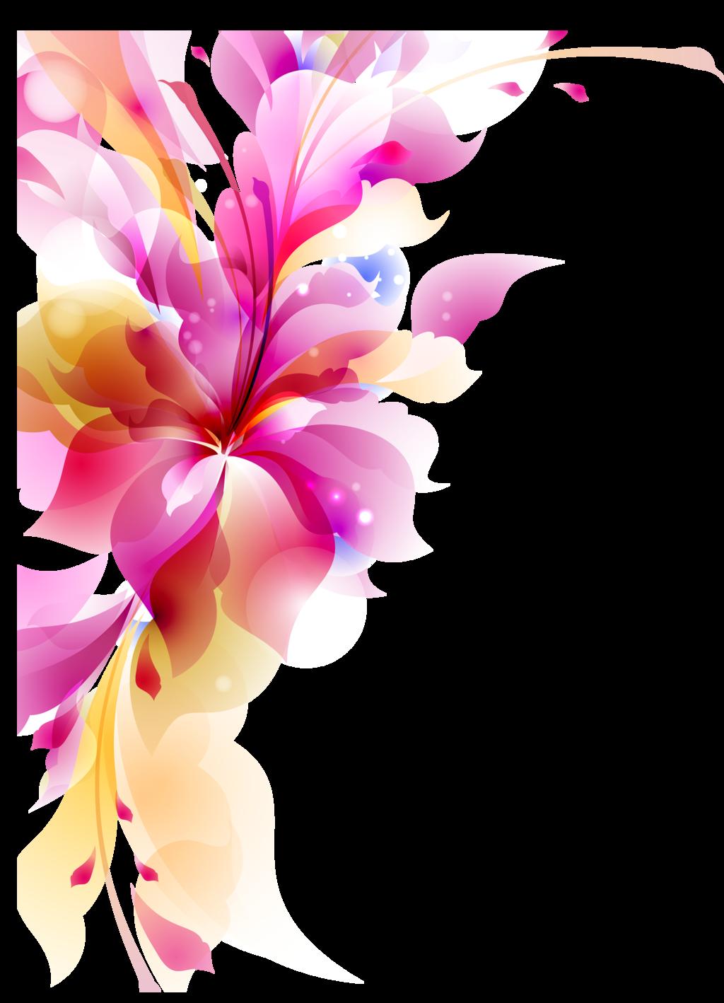 Flower Floral Design Wallpaper Vector Png Transparent Png