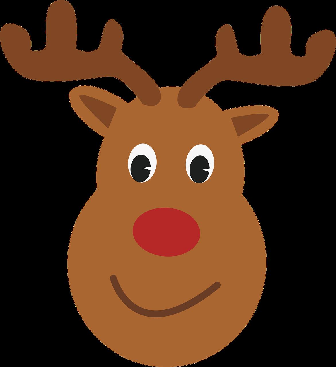 Rudolph Reindeer Santa Claus T-shirt - Reindeer png ...