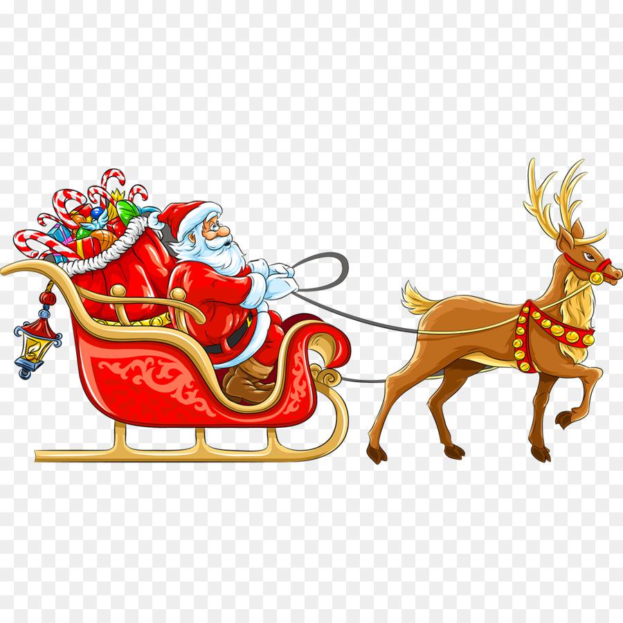 Santa Claus Christmas Decoration Sled Santa Sleigh Png Download 1200 1200 Free Transparent Santa Claus Png Download Clip Art Library