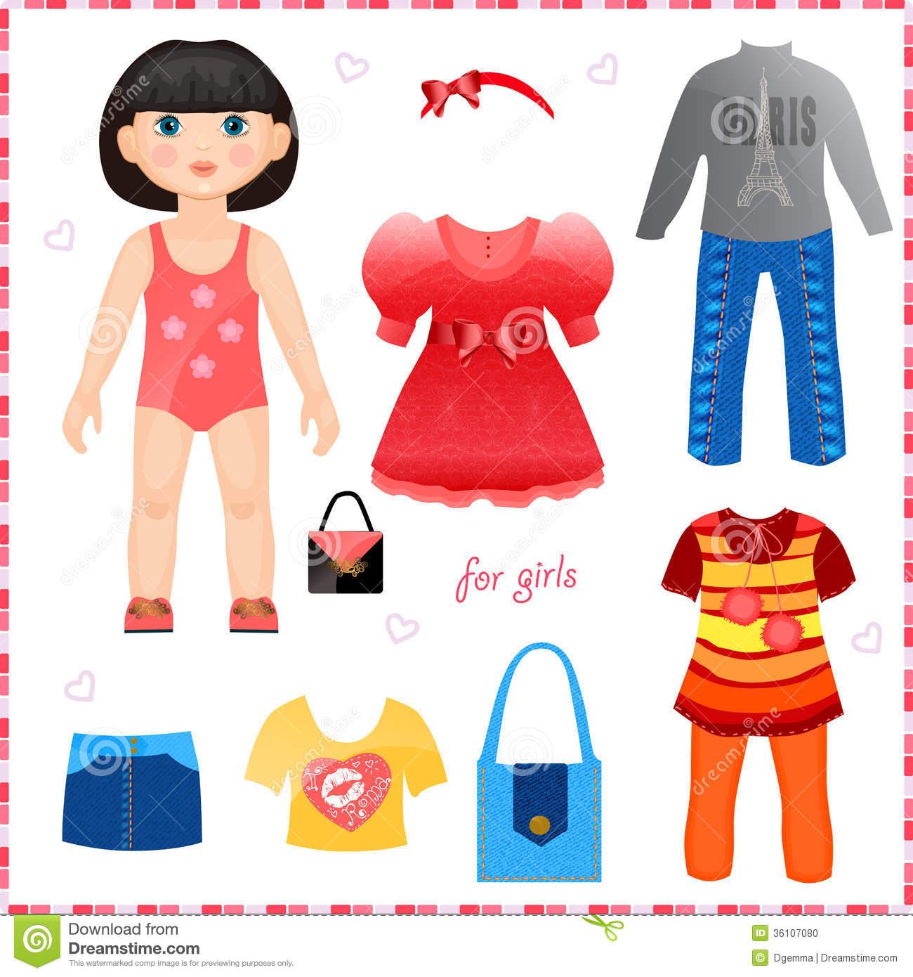 Картинка дитячий одягалки