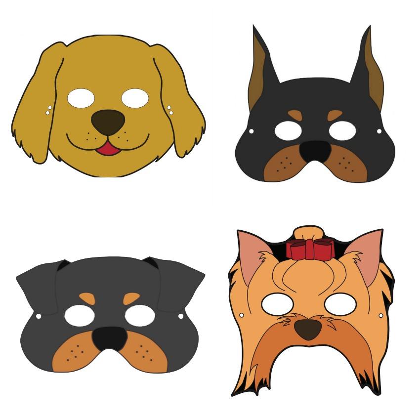 сети картинка маска собаки распечатать нередко