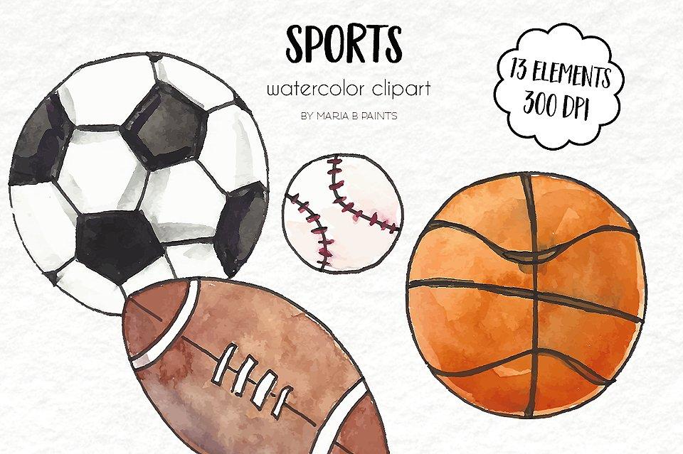 Free Watercolor Baseball Cliparts Download Free Clip Art