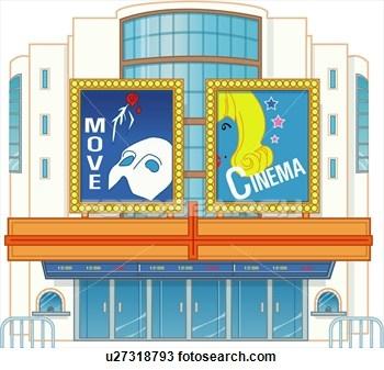 Movie Cinema Building Cartoon