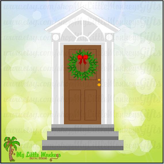 Christmas Door Clipart Free
