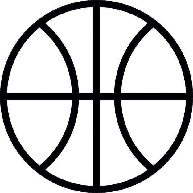 basketball outline vector - clip art library