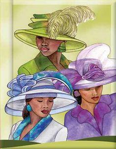 Free Clipart Black Women Wearing Hats African