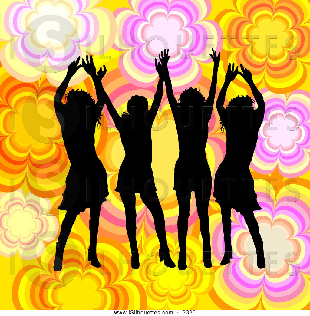 clip art of a group of women
