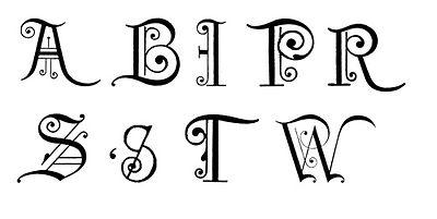 Fancy Alphabet Cliparts Free Download Clip Art