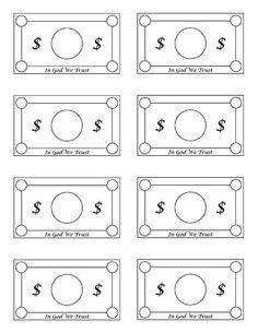 Free Printable Play Money Black And White Download Free Clip Art Free Clip Art On Clipart Library