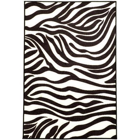 Pink Black White Zebra Carpet