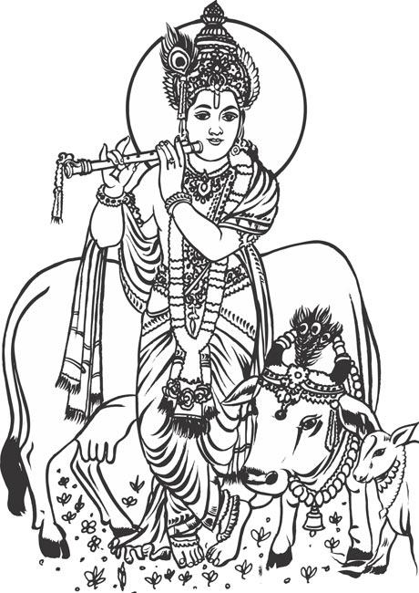 Shri Krishna Clipart Full Size