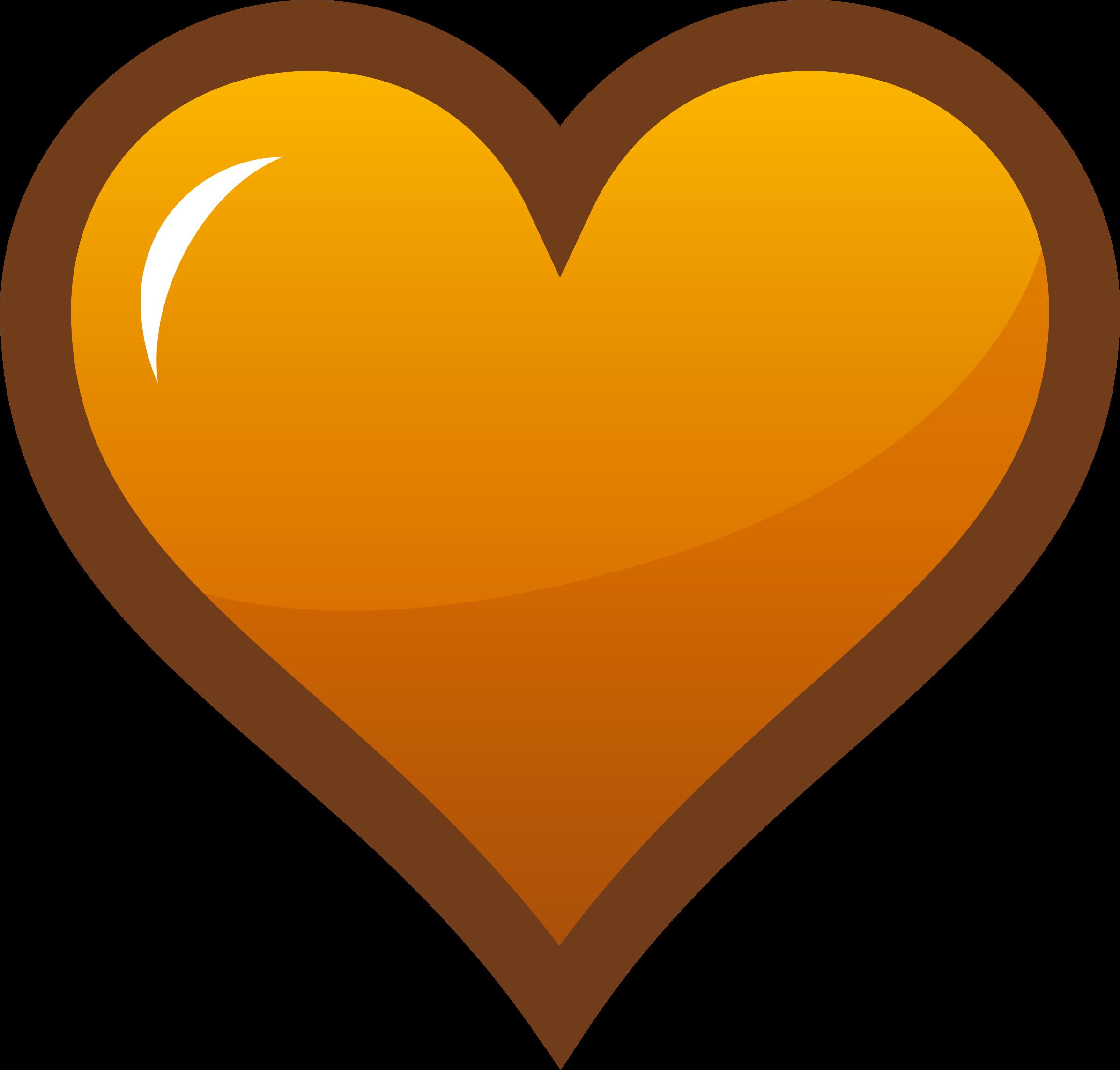 Orange Heart Clipart