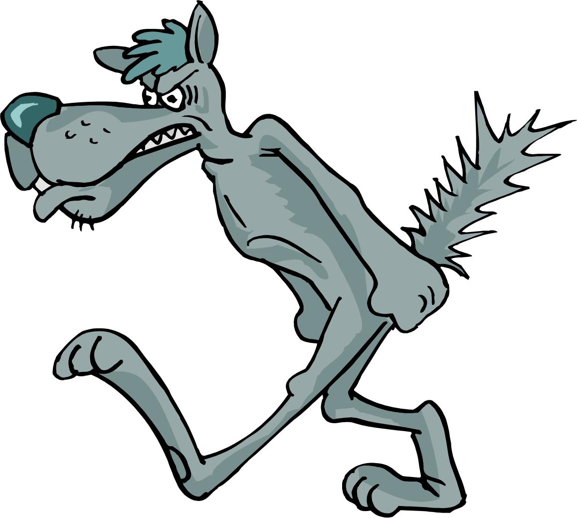 Картинка трусливого волка идеально сочетается