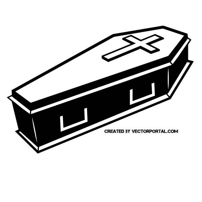 coffin vector clip art - clip art library
