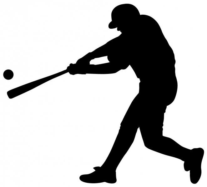 silhouette baseball player - clip art library