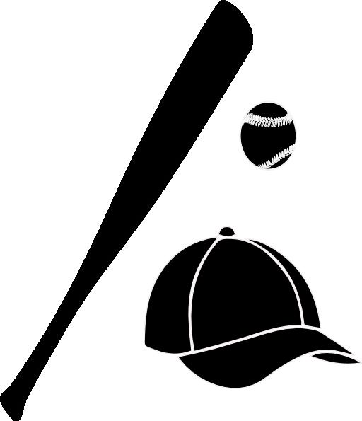 baseball bat silhouette - clip art library