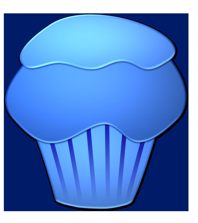 Blue Cupcakes Clipart