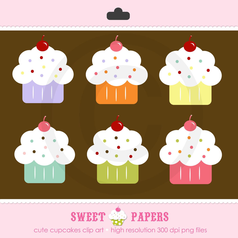 January Free Birthday Cupcake Clipart