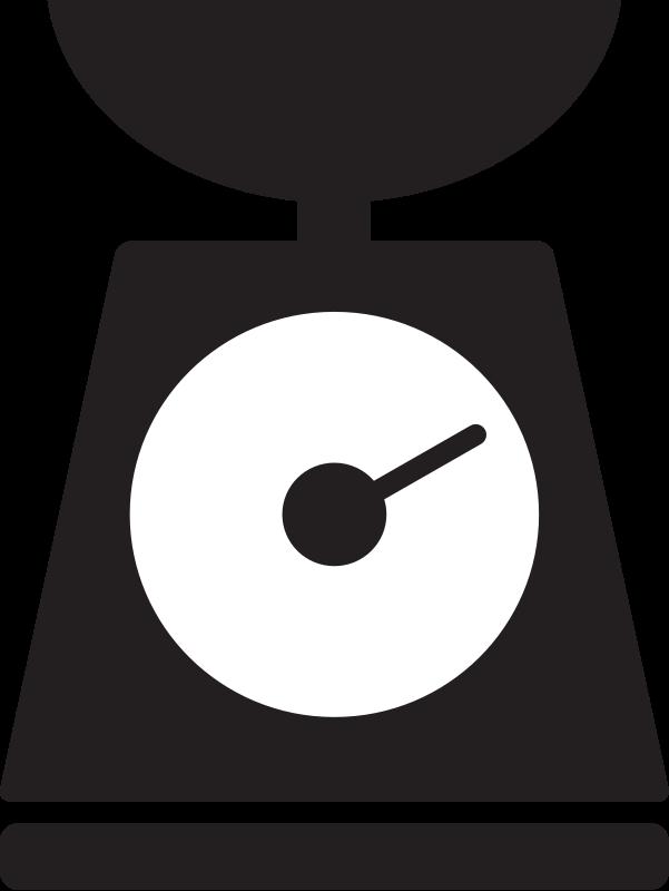 Black scale clipart