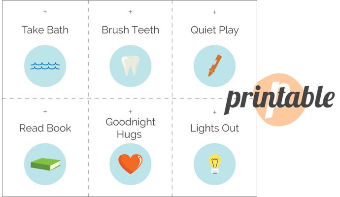 Free Printable Toddler Bedtime Routine Chart