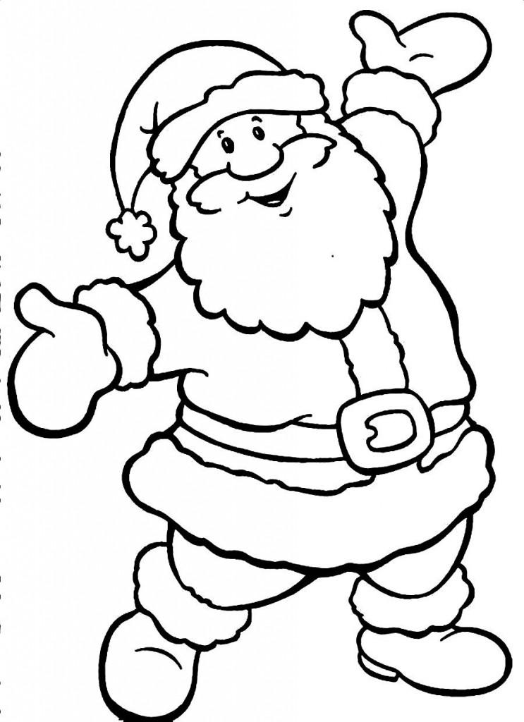 Free Santa Clipart Black And White, Download Free Clip Art ...