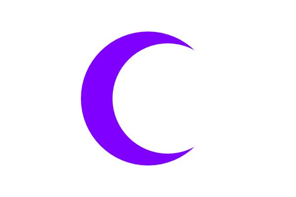 Purple Crescent Clip Art At Clker