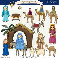 Nativity Clip Art from Charlotte&Clips: Catholic