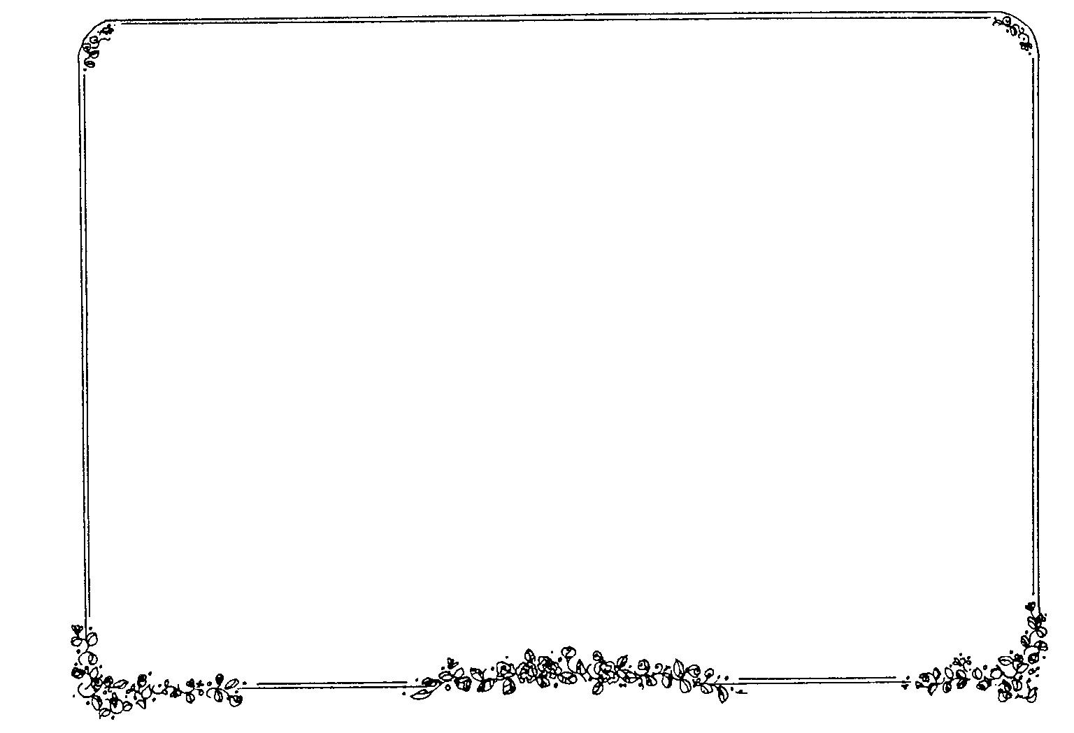 Single Line Border Clipart Simple