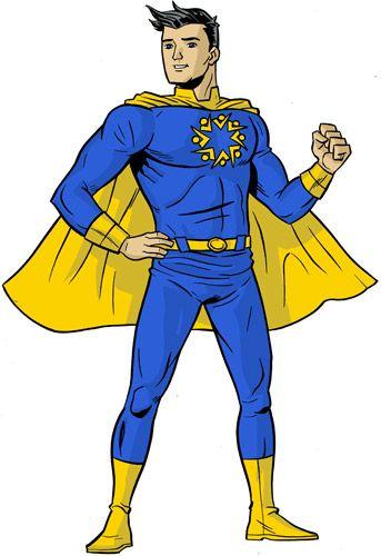 Superhero Body Template Clip Art