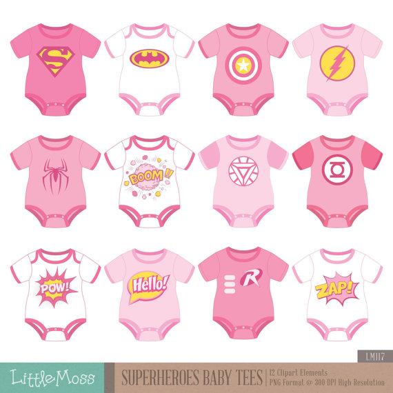 superhero baby girl clipart