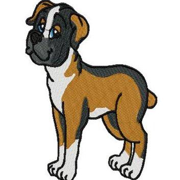 boxer dog clip art - clip art library