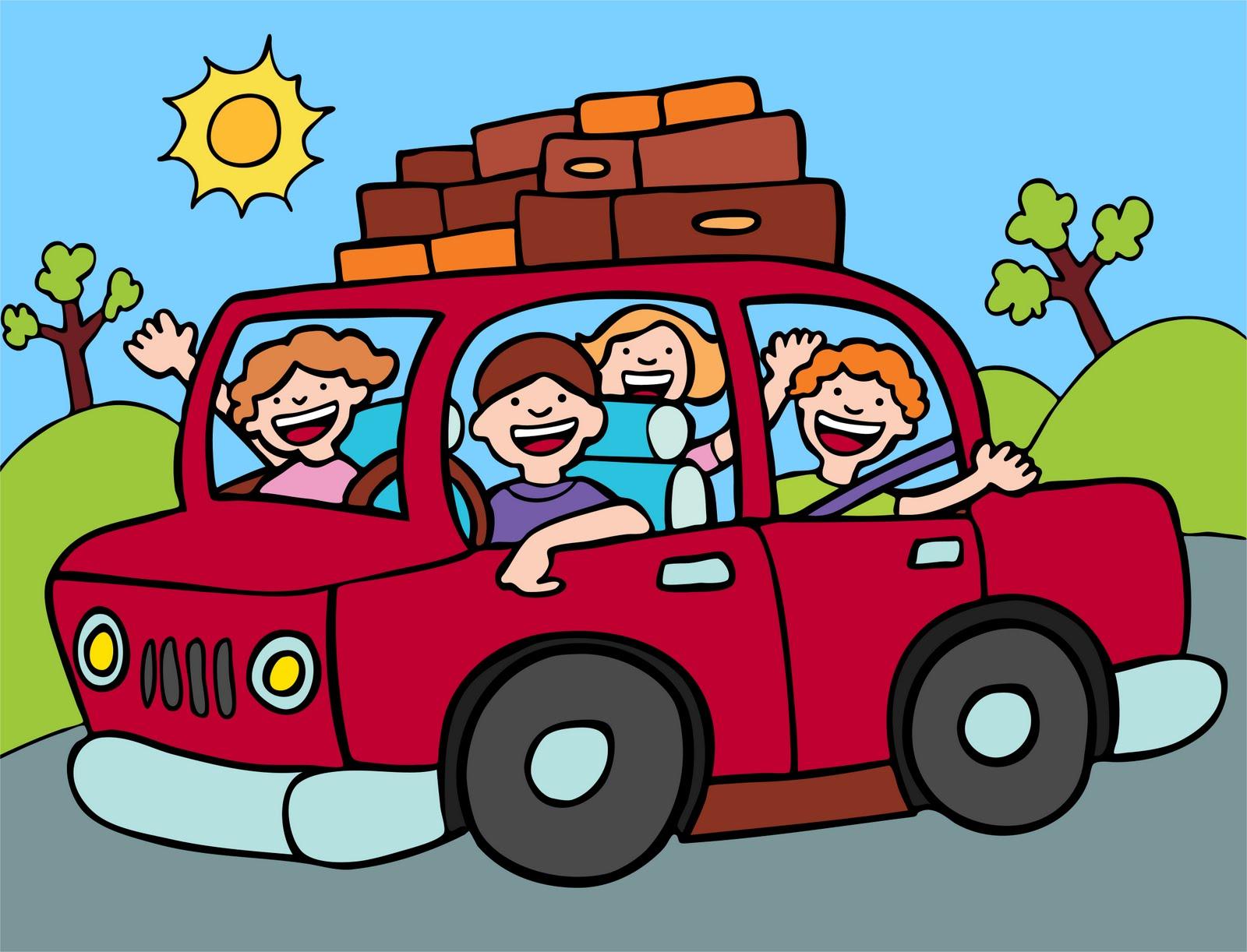 Car Road Trip Cartoon Clip Art Library