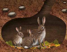 Rabbit burrow clipart - photo#46
