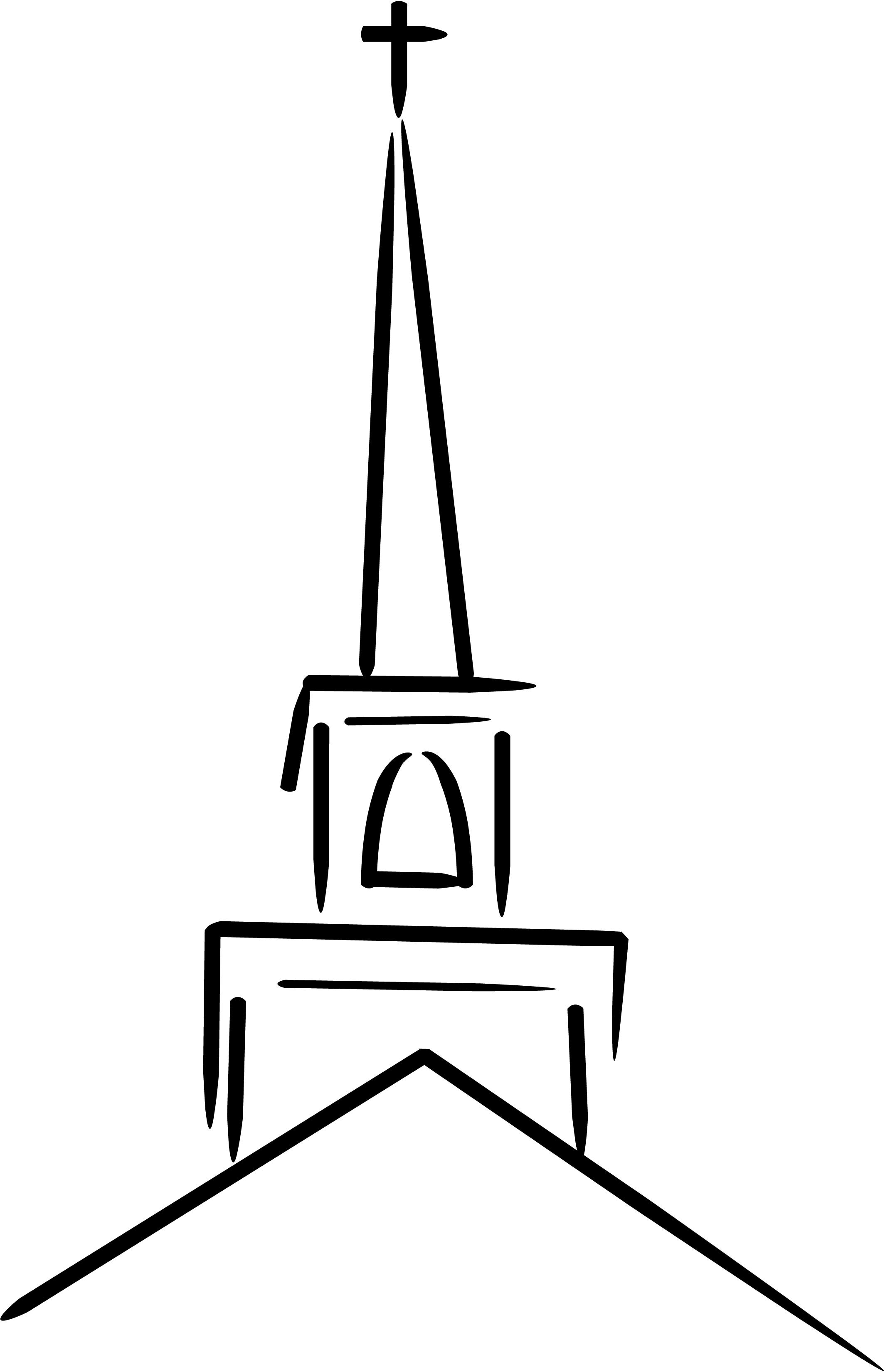 D Line Drawings Logo : Free cross sketch cliparts download clip art