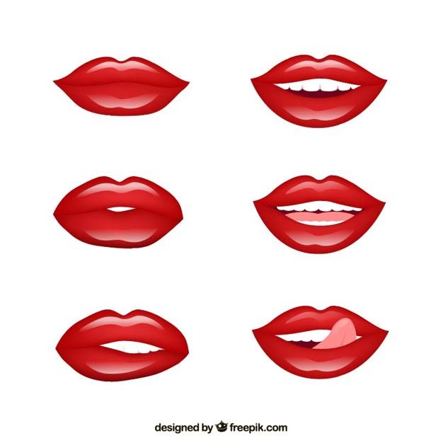 on Lips Zipped Clip Art Animated