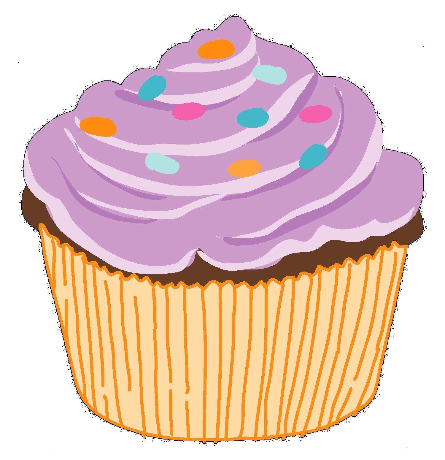 clipart Cartoon Cupcakes Clipart