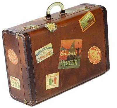 clipart open antique suitcase - clip art library