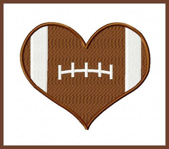 Football Heart Clipart Vector