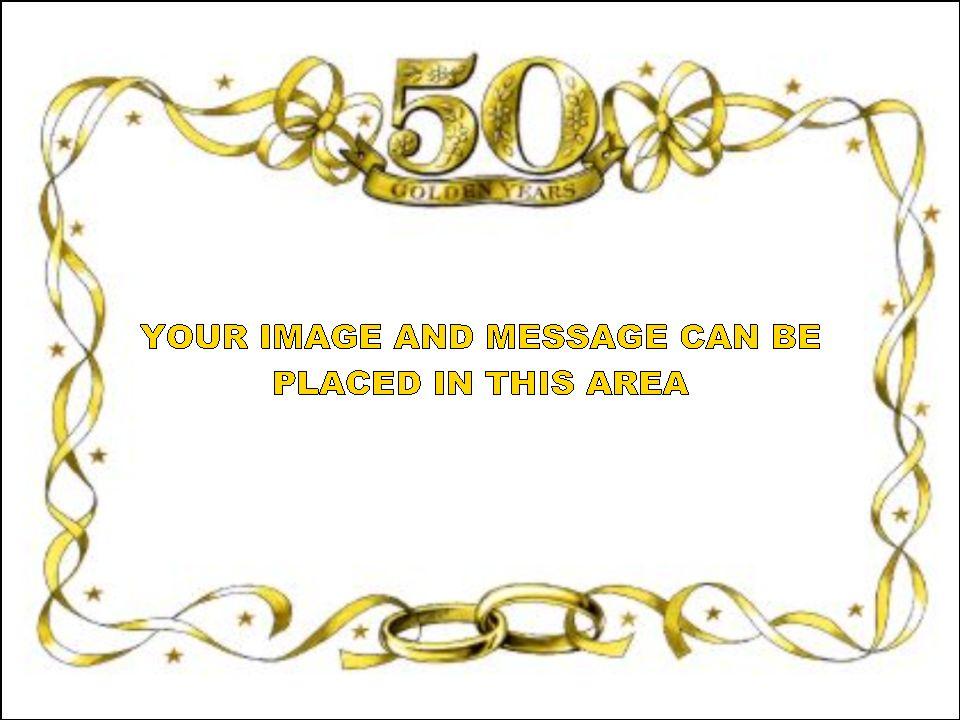 Golden Wedding Anniversary Clipart