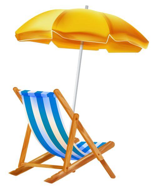 Beach Umbrella With Chair Png Clipar