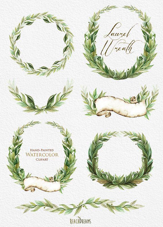 Greenery Wreath Drawing