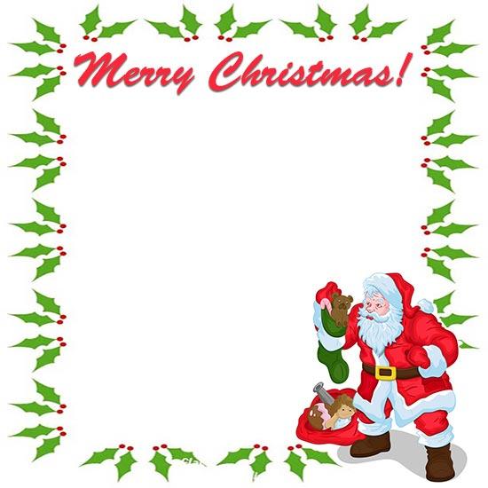 Merry Christmas Border Clipart Clip Art Library