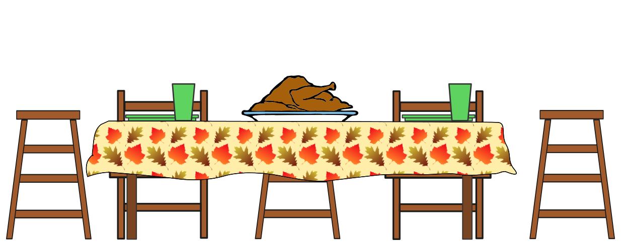 Thanksgiving Dinner Table Clipart
