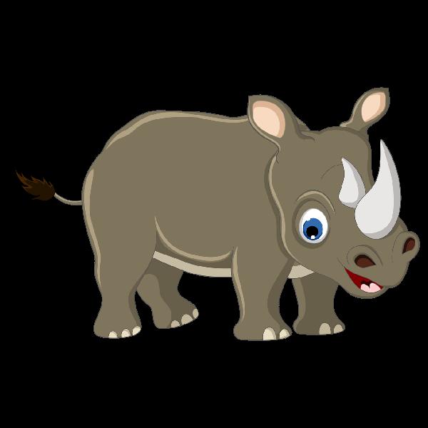 cute rhino clipart - clip art library