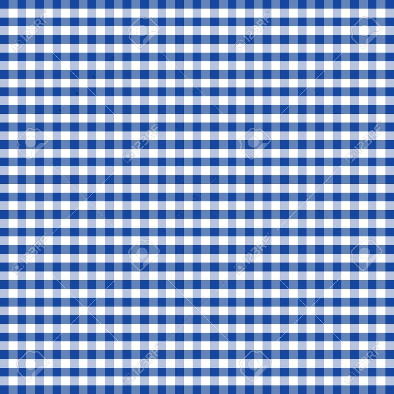 Blue Checkered Clipart