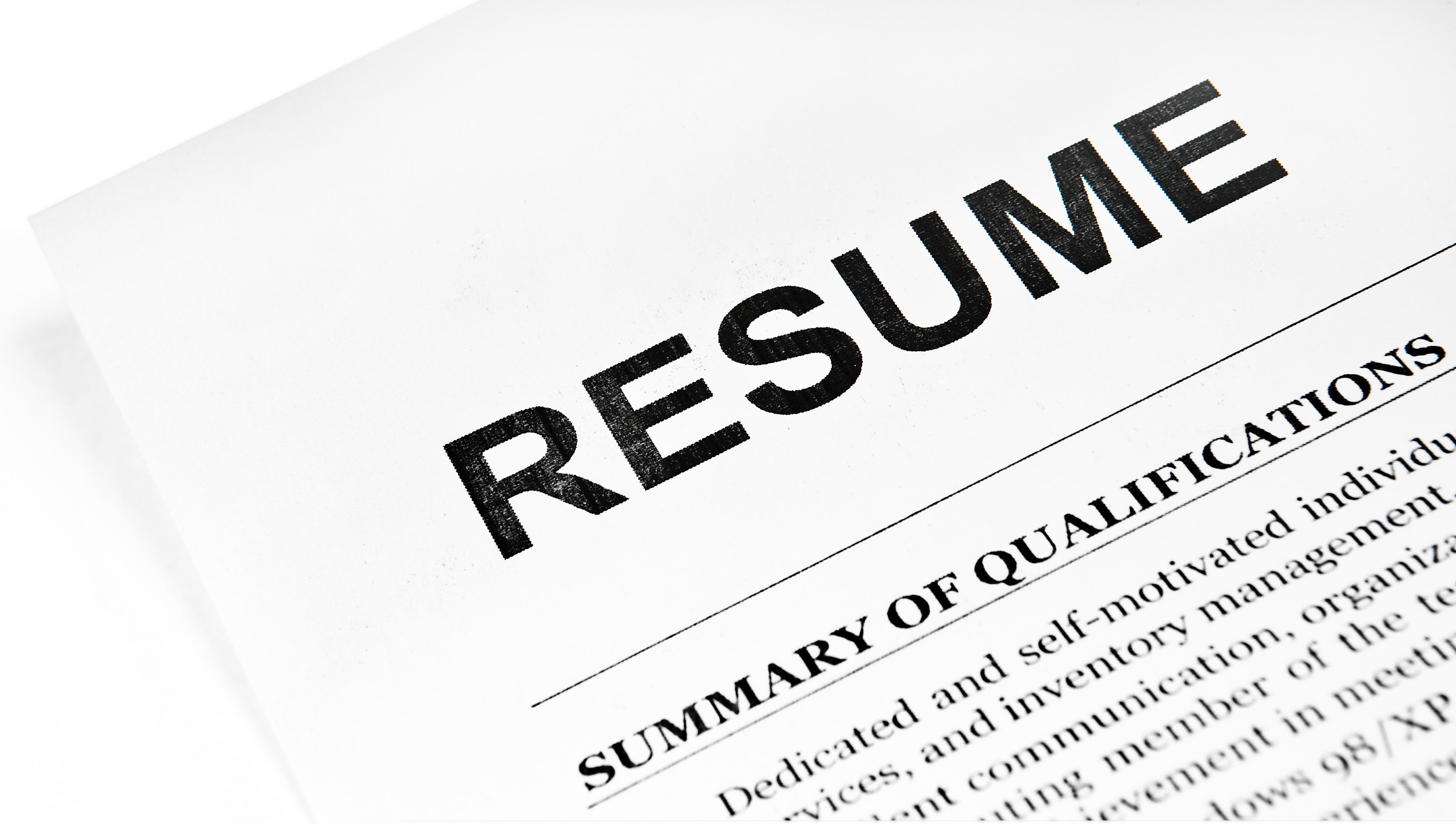 tailor resume to job