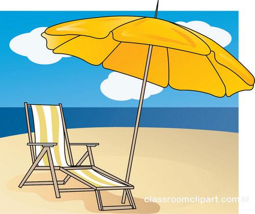 Clip Art Beach Umbrella And Chair Clipart