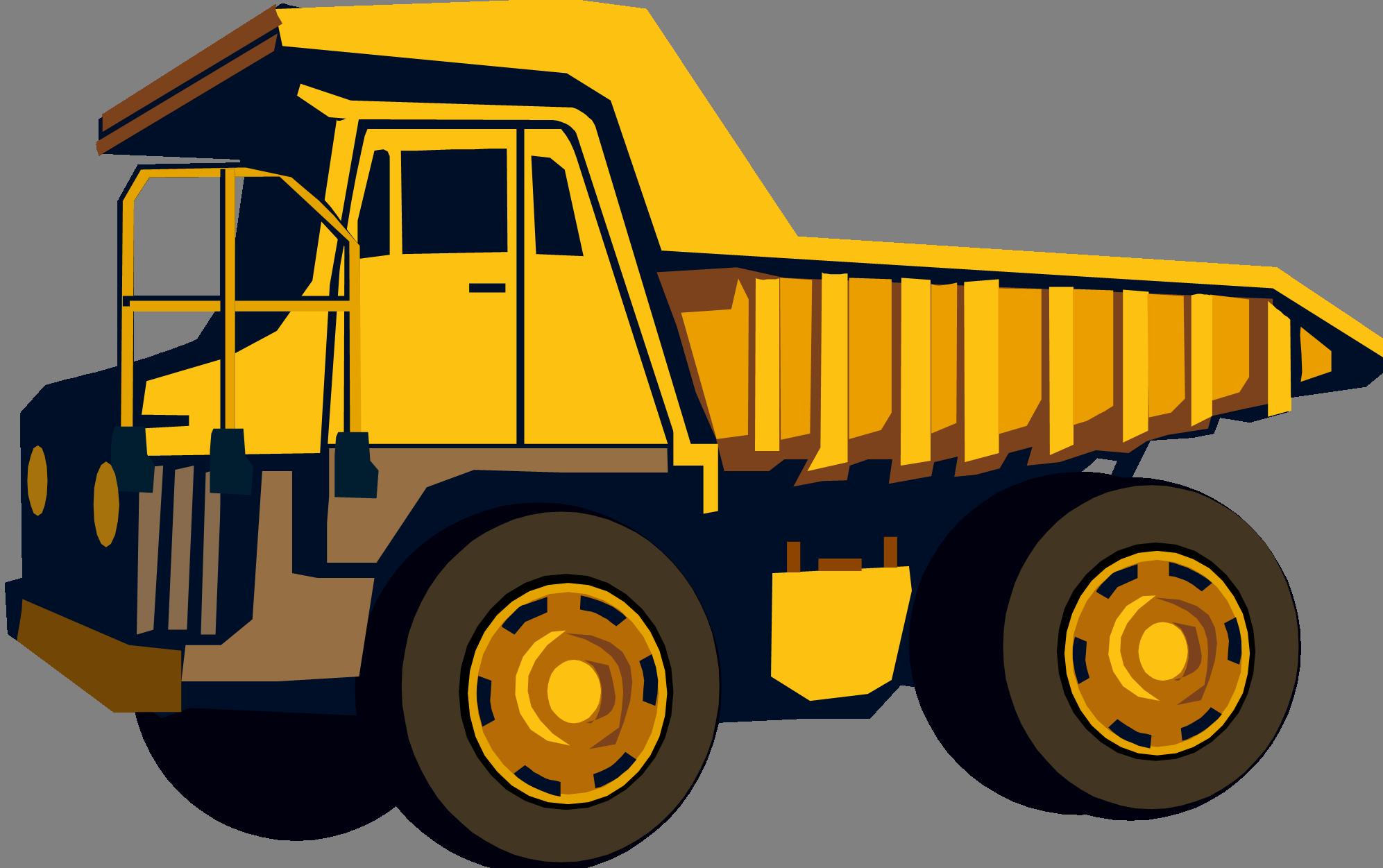 Dump Truck Cartoon Clipart