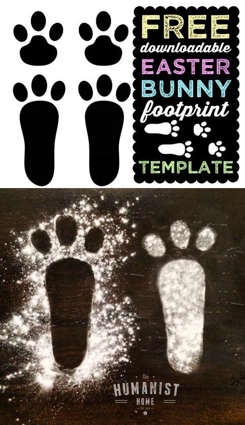 Sideways rabbit foot print clipart