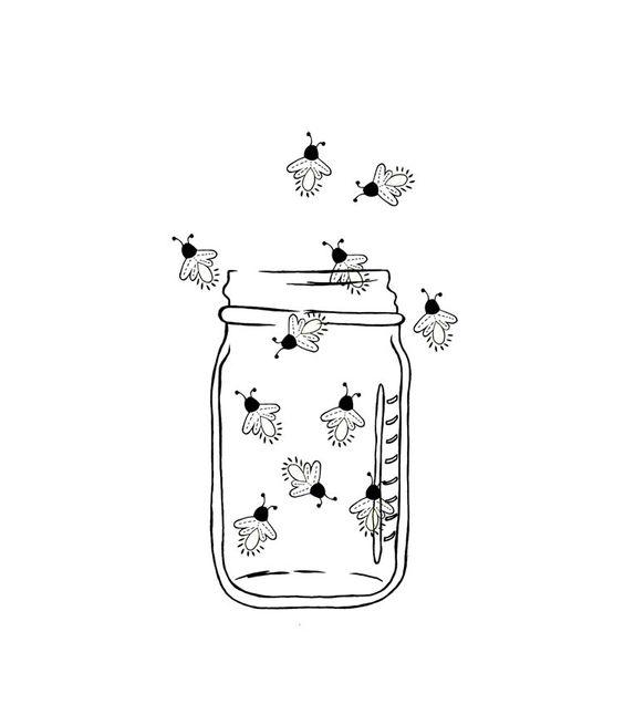 Mason Jar Image Outline